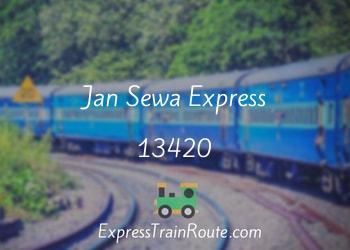 Jan Sewa Express - 13420 Route, Schedule, Status & TimeTable