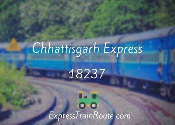 chhattisgarh express 18237 live running train status