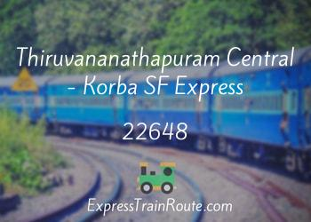 22648-thiruvananathapuram-central-korba-sf-express